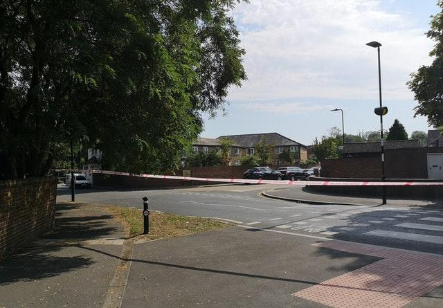 The scene in Southall