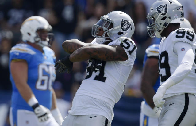 Bruce Irvin is the latest player to be sent away from Oakland. (AP Photo)