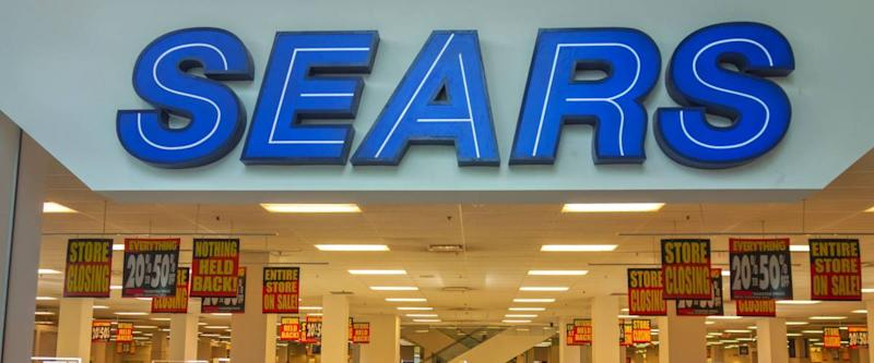 CALGARY, ALBERTA, CANADA - OCTOBER 19, 2017: Sears Store Front in Southcentre Shopping Mall in South Calgary