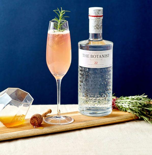 PHOTO: The Rose Fizz is a perfectly pink gin-based cocktail for Valentine's Day. (The Botanist Gin)