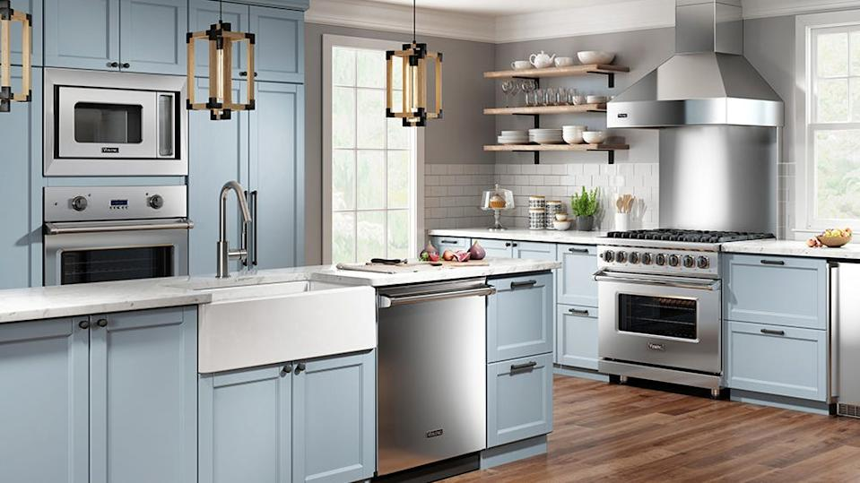 You can get a free Viking appliance with the purchase of select ranges or refridgerators.