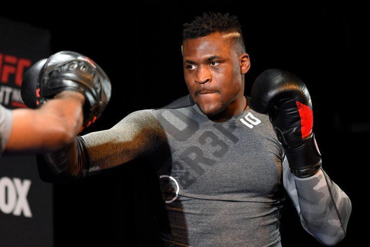 Once homeless, Francis Ngannou is now a highly regarded UFC heavyweight prospect. He fights Andrei Arlovski Saturday in Denver. (Josh Hedges/Getty Images)