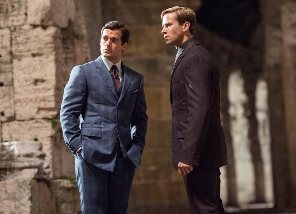 """<p>Another spy movie set during the Cold War! In this one, CIA agent Napoleon Solo (Henry Cavill) and KGB operative Illya Kuryakin (Armie Hammer) join forces to stop a mysterious criminal organization trying to gain more nuclear weapons. The two spies must learn to put aside their differences in order to achieve their mission.</p> <p><a href=""""https://www.amazon.com/Man-U-N-C-L-Henry-Cavill/dp/B013WF1Z4O"""" rel=""""nofollow noopener"""" target=""""_blank"""" data-ylk=""""slk:Available to rent on Amazon Prime Video"""" class=""""link rapid-noclick-resp""""><em>Available to rent on Amazon Prime Video</em></a></p>"""