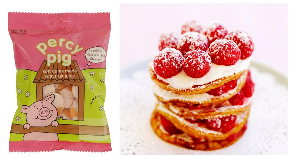 Percy Pig pancakes are now available from M&S (M&S/Getty)