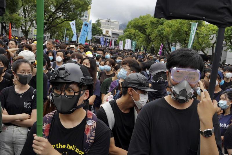 Los manifestantes protestan en Hong Kong (AP Photo/Vincent Yu)