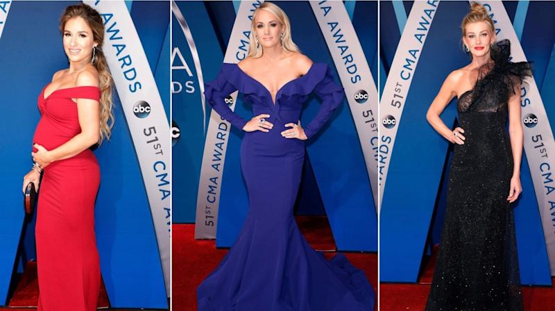 The only thing more thrilling than theDonald Trump zingersat the CMA Awards Wednesday night was the jaw-droppingly gorgeous red carpet.