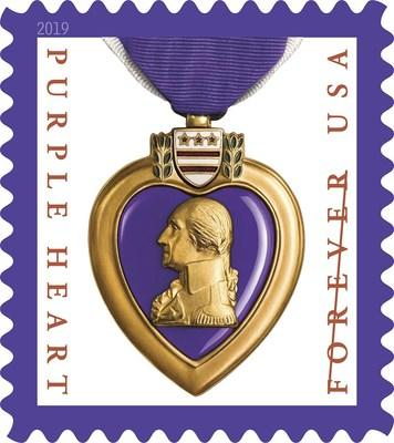 U.S. Postal Service continues to honor the sacrifices of the men and women who serve in the U.S. military with the Purple Heart Medal 2019 Forever stamp.
