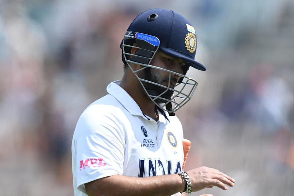 File: Rishabh Pant leaves the pitch on the final day of the ICC World Test Championship Final on 23 June, 2021 (AFP via Getty Images)