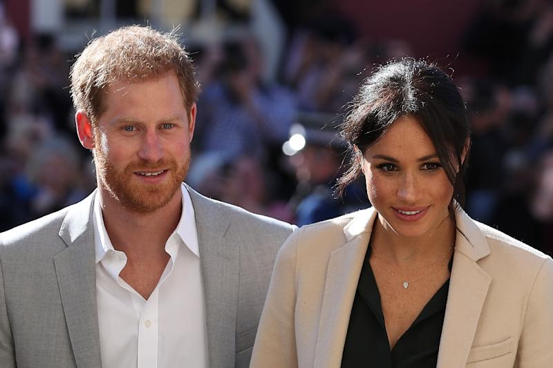Harry and Meghan touch down in Australia for start of royal tour