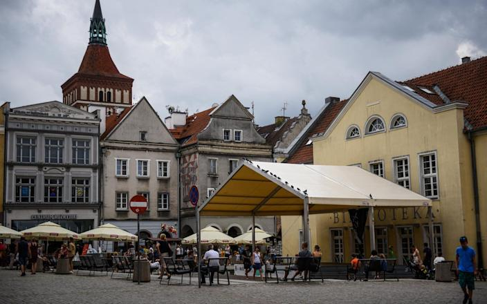 Olsztyn, at the heart of the Polish lake district, pictured last summer when it had very few Covid-19 cases - Getty