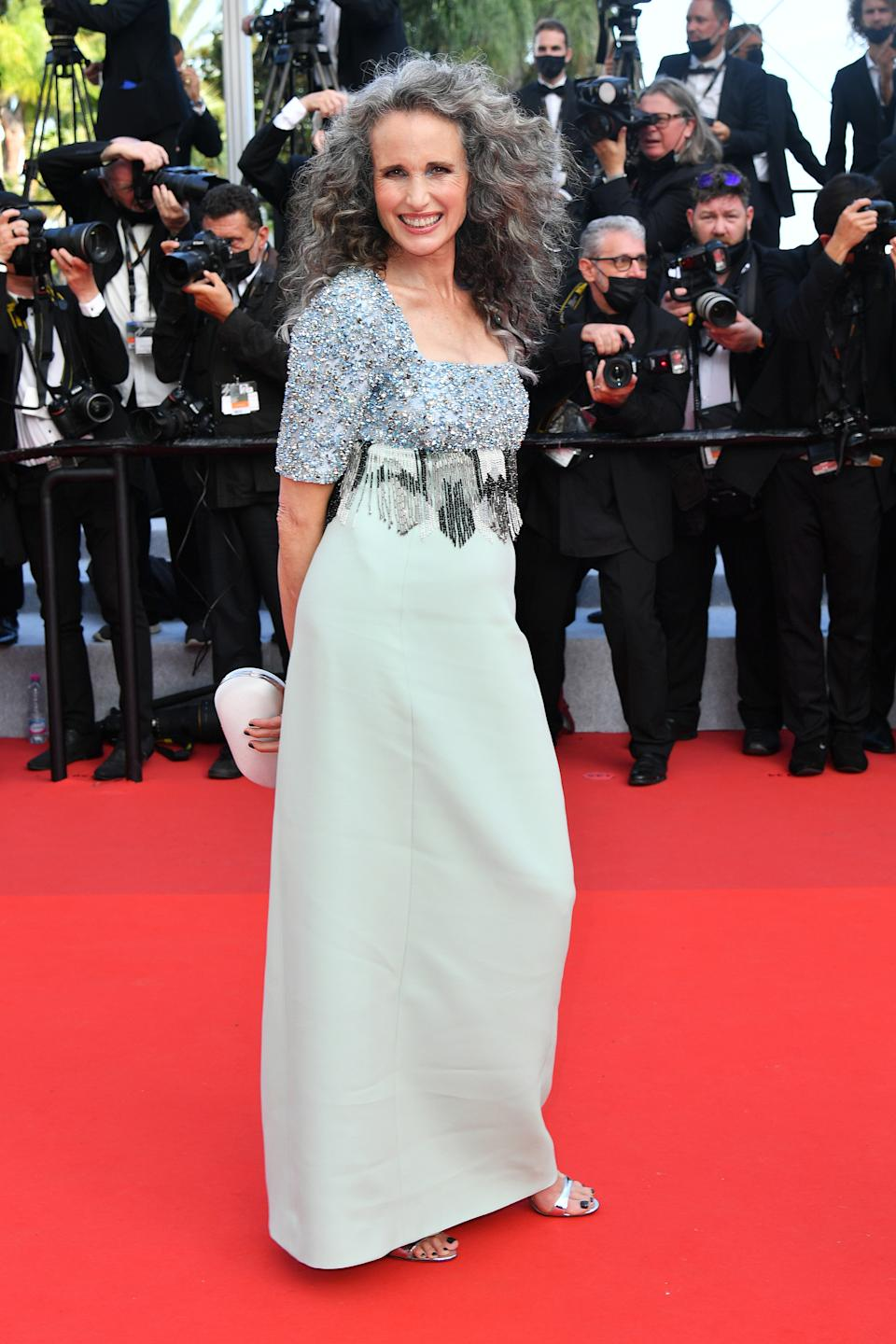<p>Andie MacDowell no Festival de Cannes (Photo by Dominique Charriau/WireImage)</p>