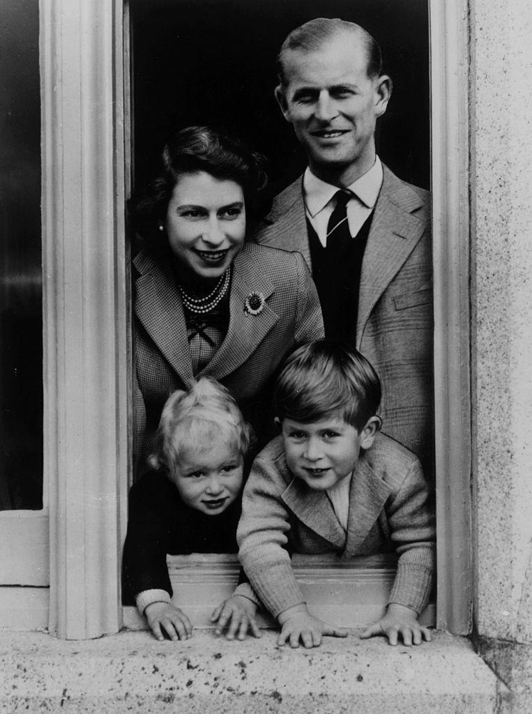 <p>The Queen and Philip with their children, Charles and Anne at Balmoral Castle in Scotland.</p>