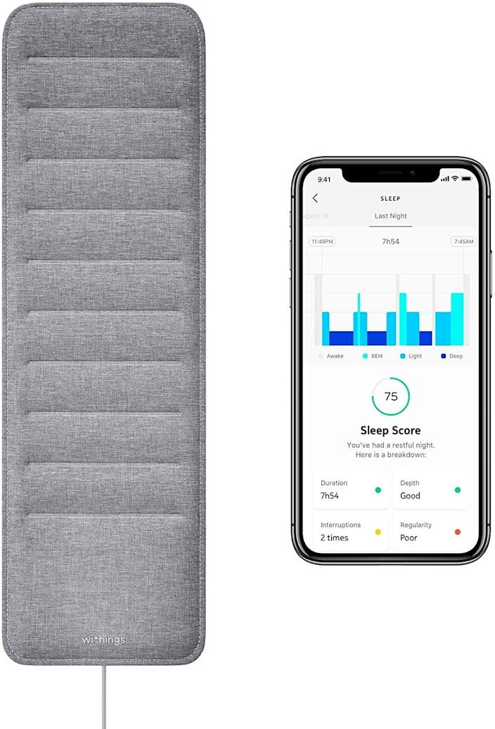 <p>Monitor your sleep easily with this <span>Withings Sleep Sleep Tracking Pad</span> ($99).</p>