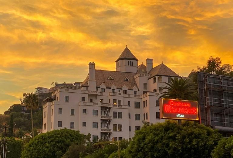 Chateau Marmont on the Sunset Strip in Los Angeles, photographed on August 18, 2020