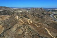 The Chiquita Canyon landfill is seen in Castaic