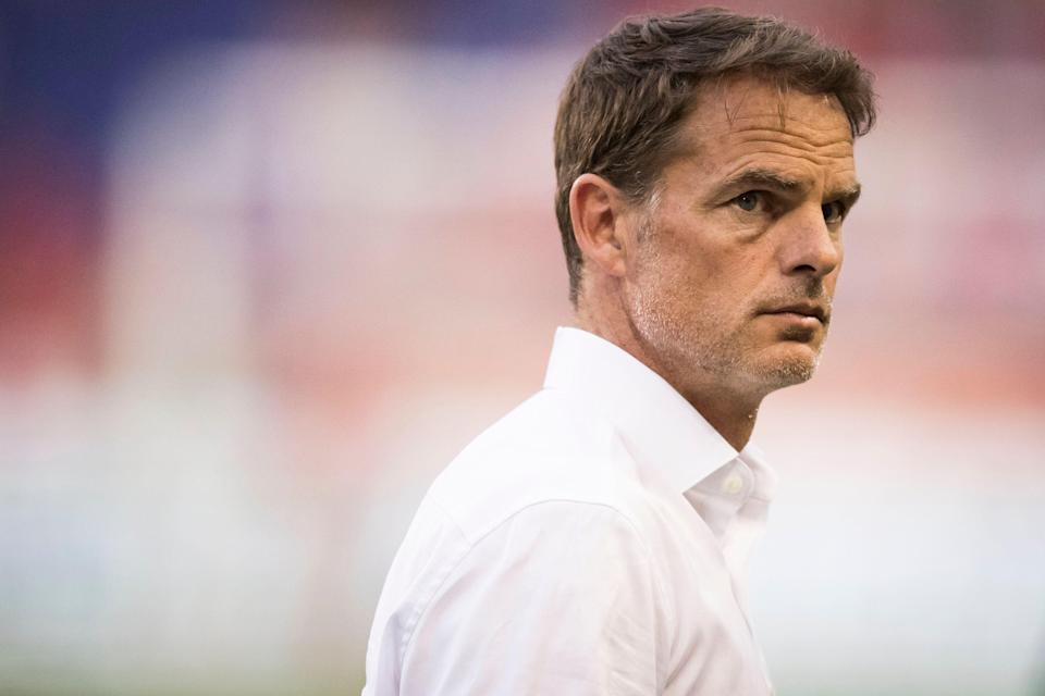 HARRISON, NJ - MAY 19: Frank de Boer Head Coach of Atlanta United FC after MLS match between Atlanta United FC and New York Red Bulls at Red Bull Arena on May 19 2019 in Harrison, NJ, USA. The New York Red Bulls won the match with a score of 1 to 0.  (Photo by Ira L. Black/Corbis via Getty Images)