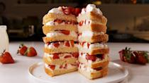 "<p>When one layer just isn't enough.</p><p>Get the recipe from <a href=""https://www.delish.com/cooking/recipe-ideas/a20720017/strawberry-shortcake-tower-recipe/"" rel=""nofollow noopener"" target=""_blank"" data-ylk=""slk:Delish"" class=""link rapid-noclick-resp"">Delish</a>.</p>"