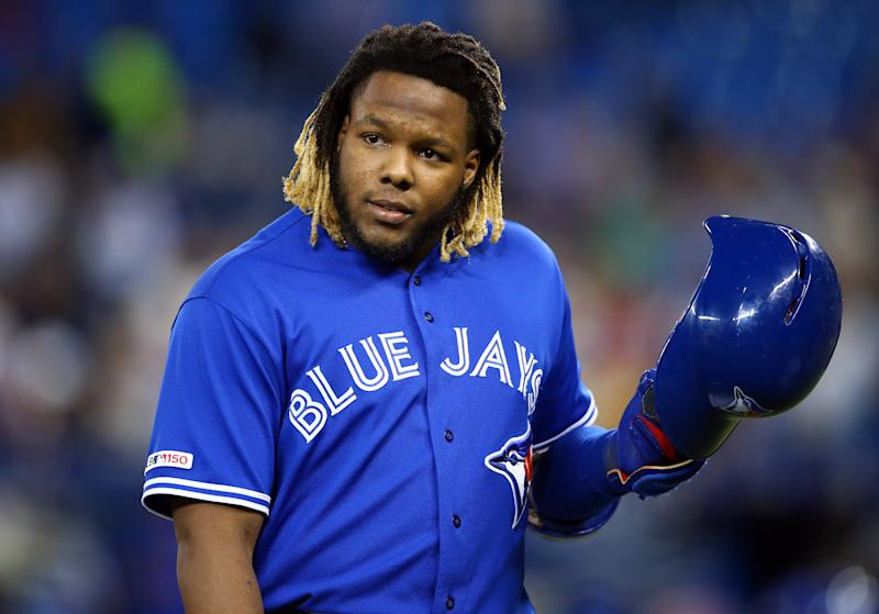 Vladimir Guerrero Jr. #27 of the Toronto Blue Jays