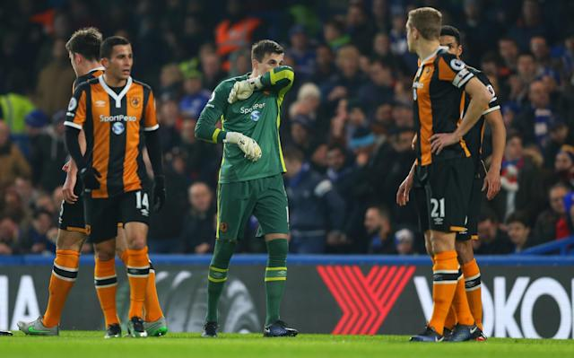 <p>Gritty Hull were left fed up after Chelsea got the crucial second goal </p>
