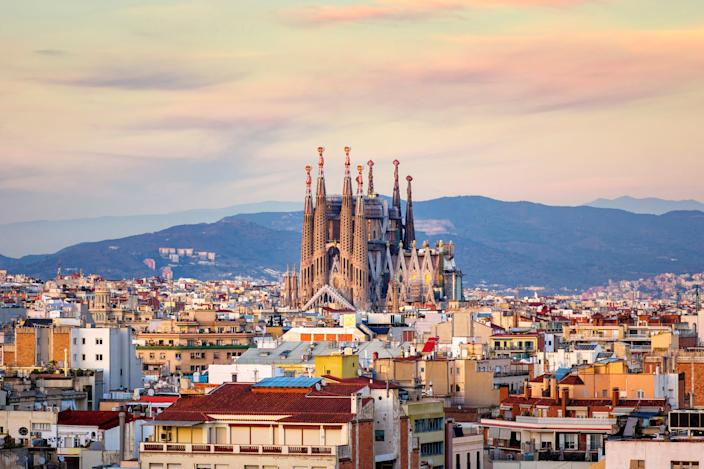 <p>Barcelona is on the amber list</p> (Getty/iStock)