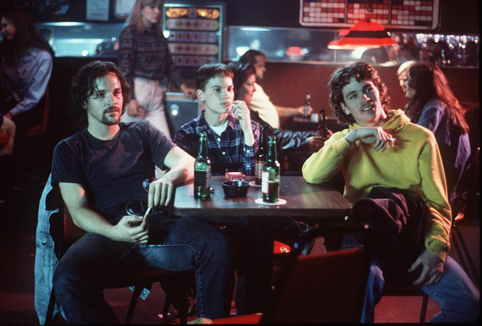 """1999 (L To R) Peter Sarsgaard, Hilary Swank And Brendan Sexton Iii Star In """"Boys Don'T Cry.""""  (Photo By Getty Images)"""