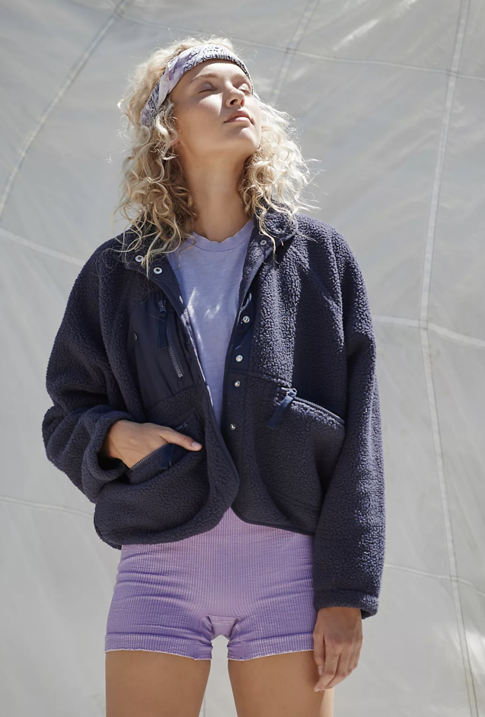 Hit The Slopes Fleece Jacket. Image via Free People.