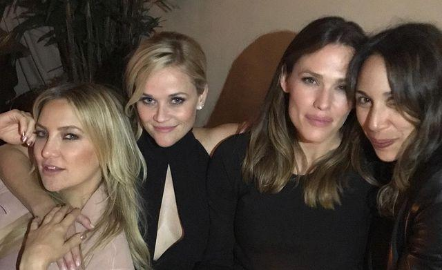 """<p>Garner spent her New Year's Eve reminiscing and looking forward to girl's nights out with pals Kate Hudson and Reese Witherspoon.</p> <p>""""Remember getting dressed up and going out with the ladies? It's coming, it's coming! Happy New Year!! ✨ <a href=""""https://www.instagram.com/explore/tags/tbt%F0%9F%98%B7/"""" rel=""""nofollow noopener"""" target=""""_blank"""" data-ylk=""""slk:#tbt😷"""" class=""""link rapid-noclick-resp"""">#tbt😷</a>,"""" Garner shared <a href=""""https://www.instagram.com/p/CJeqOdPDe1u/"""" rel=""""nofollow noopener"""" target=""""_blank"""" data-ylk=""""slk:alongside a photo with her friends."""" class=""""link rapid-noclick-resp"""">alongside a photo with her friends.</a></p>"""