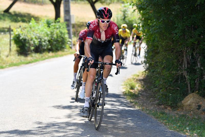Thomas working on the approach to the Grand Colombier