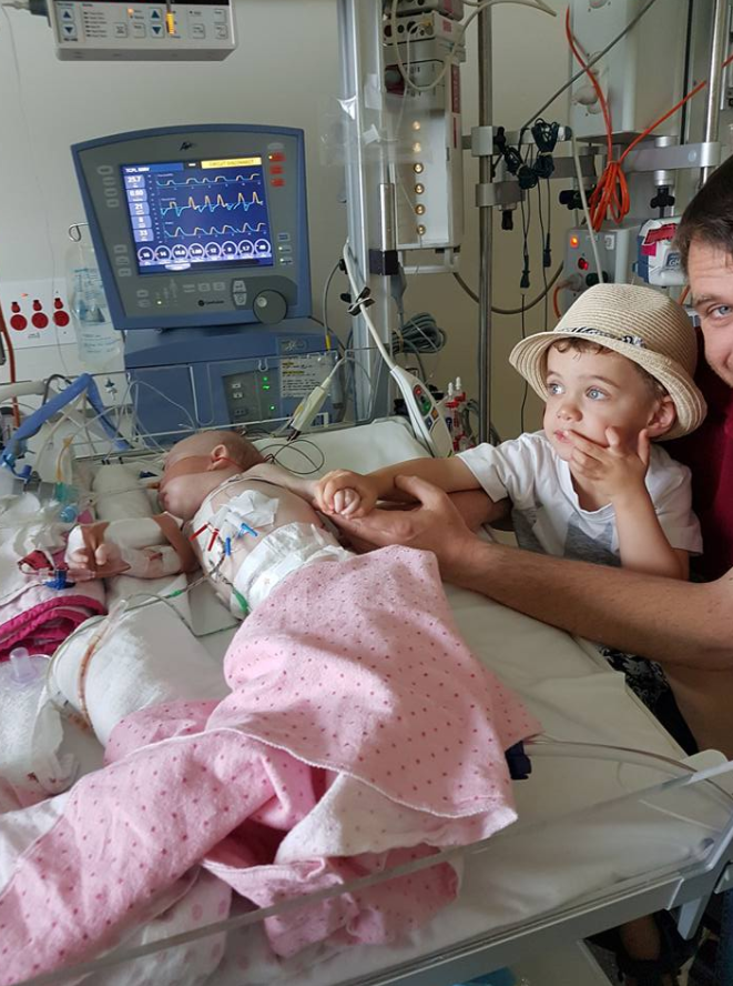 Madi was rushed into surgery soon after her mum took her to hospital. Photo: Facebook