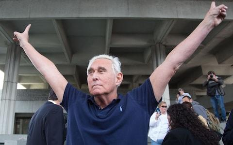 Roger Stone has vowed to fight the charges - Credit: AFP
