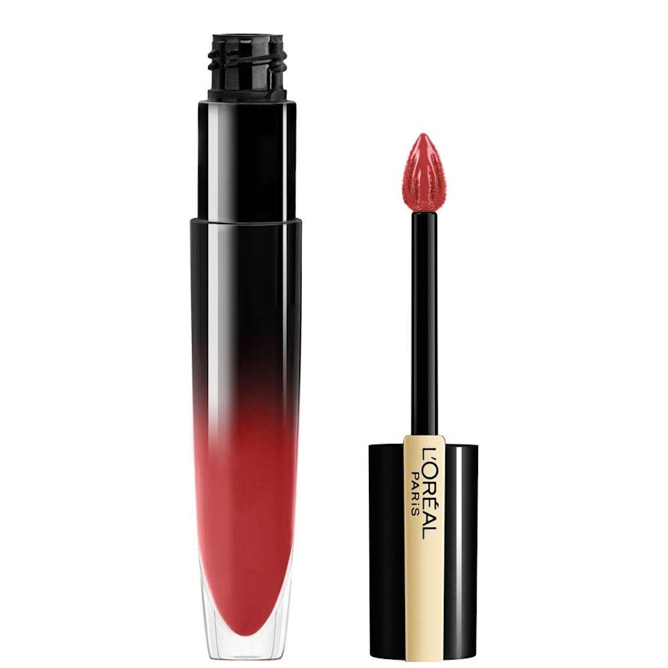 """<h2>L'Oréal Paris Brilliant Signature Lip Stain</h2><br>If full-coverage <a href=""""https://www.refinery29.com/en-us/best-matte-lipstick"""" rel=""""nofollow noopener"""" target=""""_blank"""" data-ylk=""""slk:matte lipsticks"""" class=""""link rapid-noclick-resp"""">matte lipsticks</a> have been slowly phased out of your makeup routine, pick up a few of these new lip stains that'll give you just enough color without going opaque. The formula comes in 12 classic colors and leaves behind a high-shine finish that'll leave your lips looking just-bitten after an eight-hour workday.<br><br><strong>L'Oreal Paris</strong> L'Oréal Paris Brilliant Signature Lip Stain, $, available at <a href=""""https://go.skimresources.com/?id=30283X879131&url=https%3A%2F%2Fwww.walmart.com%2Fip%2FL-Oreal-Paris-Brilliant-Signature-Shiny-Lip-Stain-Lipstick-Be-Brilliant-0-21-fl-oz%2F540457842"""" rel=""""nofollow noopener"""" target=""""_blank"""" data-ylk=""""slk:Walmart"""" class=""""link rapid-noclick-resp"""">Walmart</a>"""
