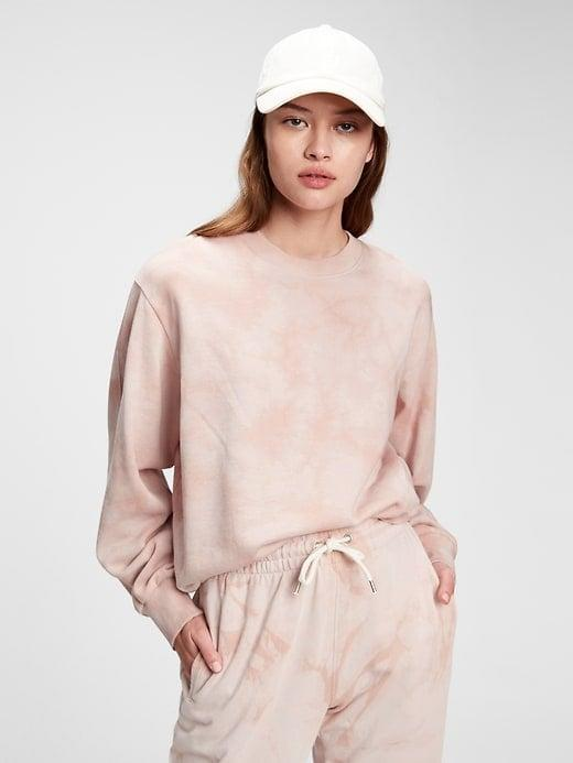 <p>The <span>Gap Balloon Sleeve Crewneck Sweatshirt</span> ($60) comes in several pastel color combos but we especially love this soft pink one with the matching <span>Gap Vintage Soft Classic Joggers</span> ($55).</p>