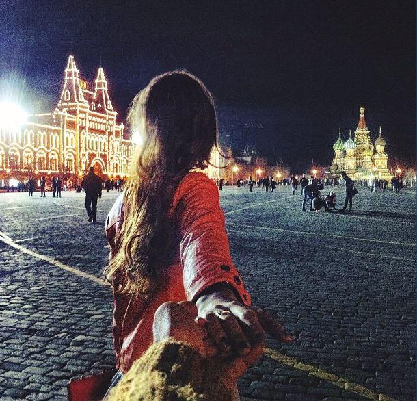 Moscow at night. (Instagram)