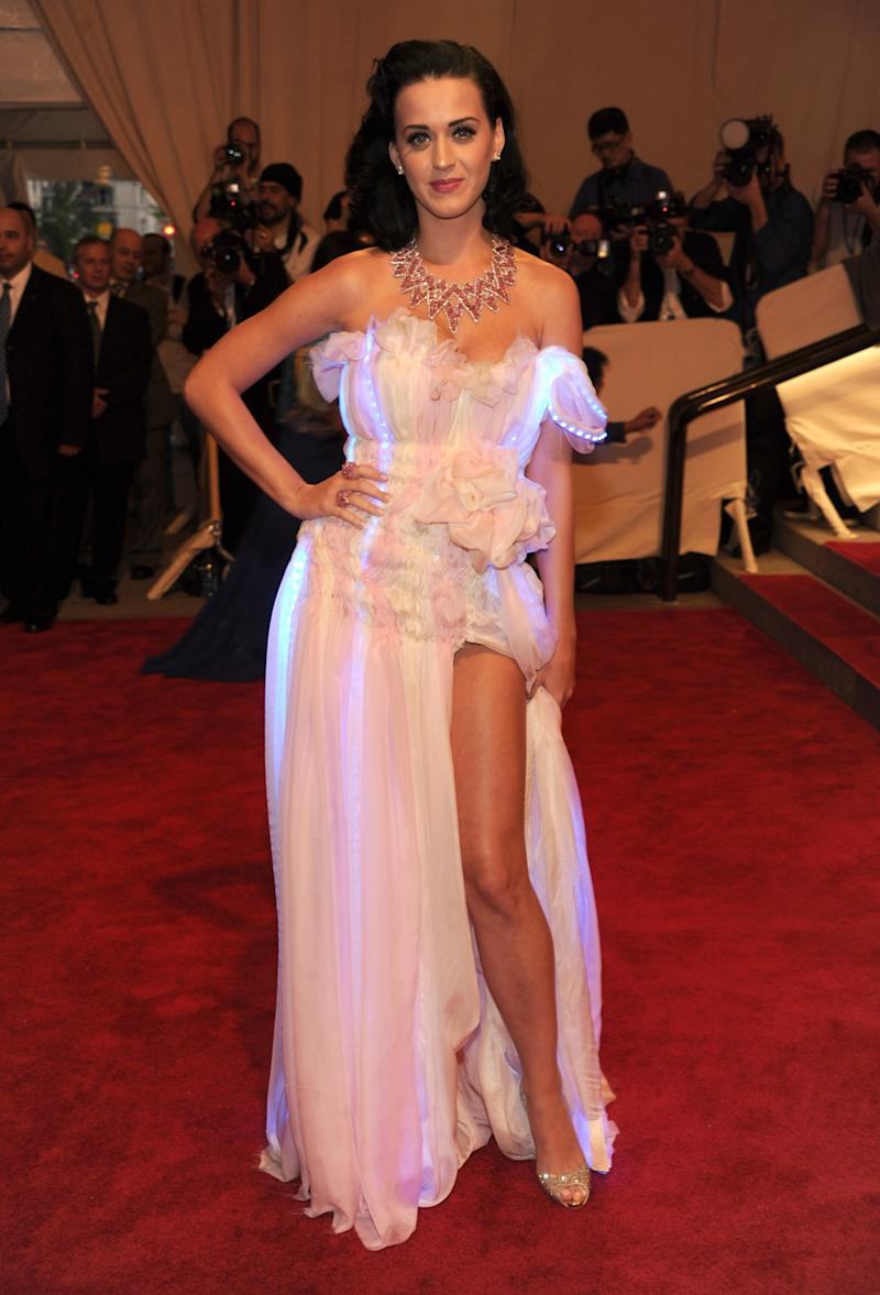 """Katy Perry attends the Costume Institute Gala Benefit to celebrate the opening of the """"American Woman: Fashioning a National Identity"""" exhibition at The Metropolitan Museum of Art on May 3, 2010 in New York City."""