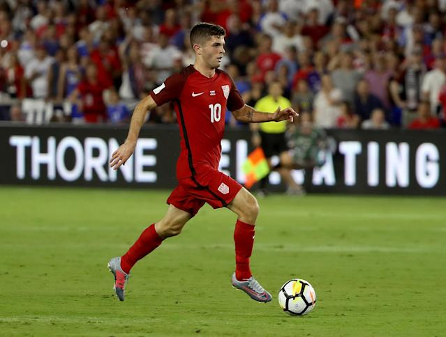 "<a class=""link rapid-noclick-resp"" href=""/soccer/players/christian-pulisic/"" data-ylk=""slk:Christian Pulisic"">Christian Pulisic</a> thrived in a central role Friday against Panama. (Getty)"