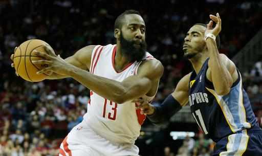 Harden leads Rockets over Grizzlies 121-96