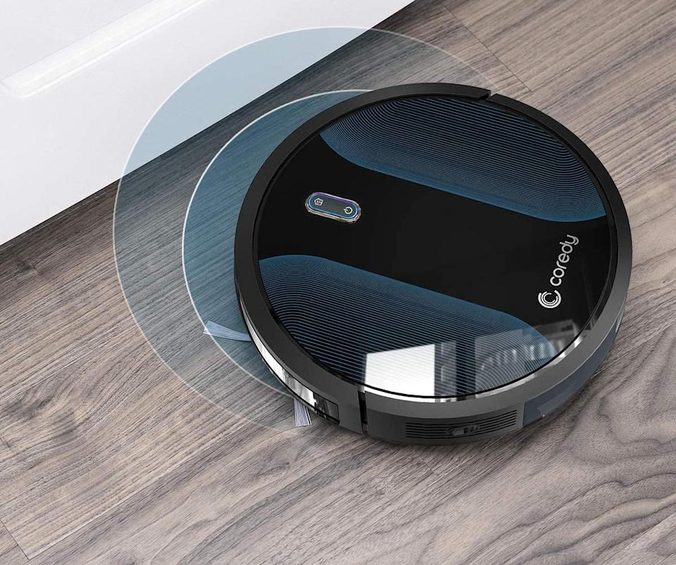 The Coredy robot vacuum cleaner can even navigate the worst messes. (Photo: Cordey)