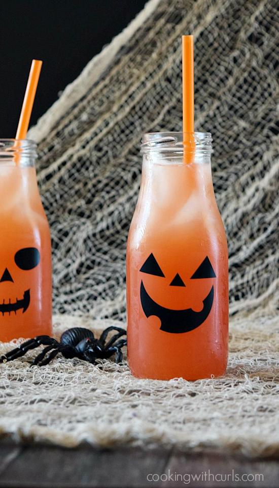 "<p>The forces are strong in this Halloween-inspired drink, made with rum, grenadine and orange liqueur. </p><p><strong>Get the recipe at <a rel=""nofollow"" href=""https://cookingwithcurls.com/2015/10/01/jack-o-lantern-cocktail/"">Cooking with Curls. </a></strong></p>"