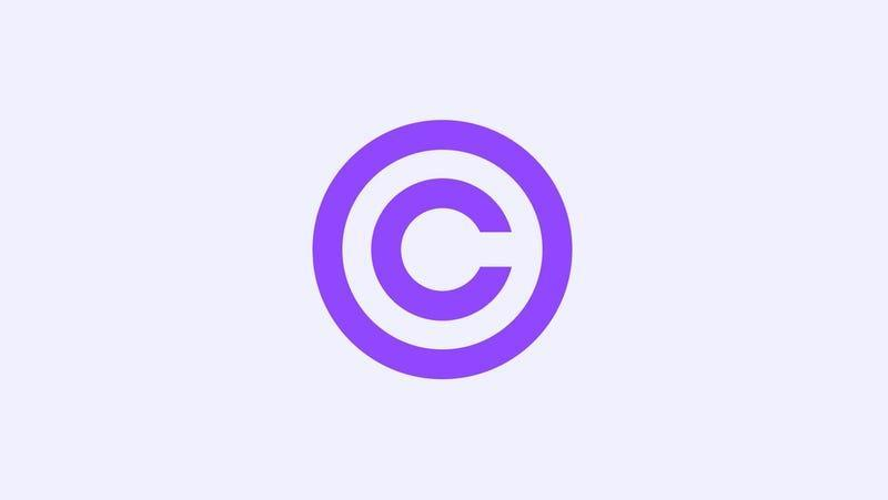 A copyright symbol, but Twitch flavored.