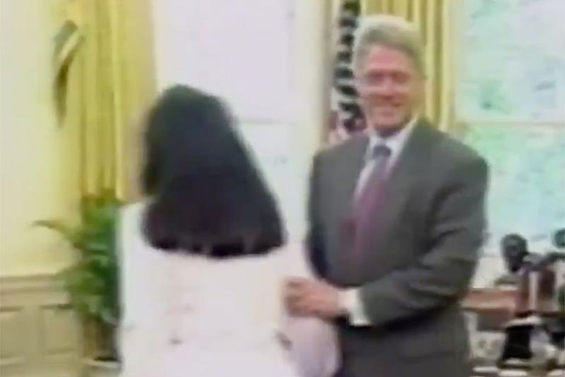 Unearthed Footage Shows Monica Lewinsky and Bill Clinton ...