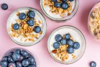 """<p>""""Breakfast is the most important meal of the day"""" may sound like an old wives' tale at this point, but some time-honored beliefs are worth the hype. In order to avoid potential brain-fog induced by low-blood sugar, <a href=""""https://www.goodhousekeeping.com/food-recipes/easy/g871/quick-breakfasts/"""" rel=""""nofollow noopener"""" target=""""_blank"""" data-ylk=""""slk:you need breakfast"""" class=""""link rapid-noclick-resp"""">you need breakfast</a>. Starting off the day with a full, nutrient-dense meal also allows you to keep making better choices throughout the day, including zapping those late-night snack cravings.</p><p>Here are our top guidelines to make your breakfast that much more delicious (and nutritious):</p><ul><li><strong>Eat breakfast every day (no exceptions!)</strong>: A large body of evidence consistently supports the idea that consuming breakfast leads to better overall health and a lower body mass index (BMI). Research suggests that you're likely to burn more calories throughout the day after having a big breakfast, while skipping breakfast is linked to burning fewer calories throughout the day — negating any weight-loss benefit of taking in fewer calories to begin with. </li><li><strong>Skip the sugary stuff:</strong> Cereals, granola, oatmeal, bars, bagels, and juice tend to be code words for <a href=""""https://www.goodhousekeeping.com/health/diet-nutrition/a26289268/is-sugar-bad-for-you/"""" rel=""""nofollow noopener"""" target=""""_blank"""" data-ylk=""""slk:sugar"""" class=""""link rapid-noclick-resp"""">sugar</a>, which can set you up for an energy crash and ultimately overeating later on in the day. Look for cereals that are in the single digits for <a href=""""https://www.goodhousekeeping.com/health/diet-nutrition/g4843/how-many-grams-of-sugar-per-day/"""" rel=""""nofollow noopener"""" target=""""_blank"""" data-ylk=""""slk:added sugar"""" class=""""link rapid-noclick-resp"""">added sugar</a>, breakfast bars that are under 4 grams of added sugar per serving, and unsweetened dairy products. Most importantly, steer clear """