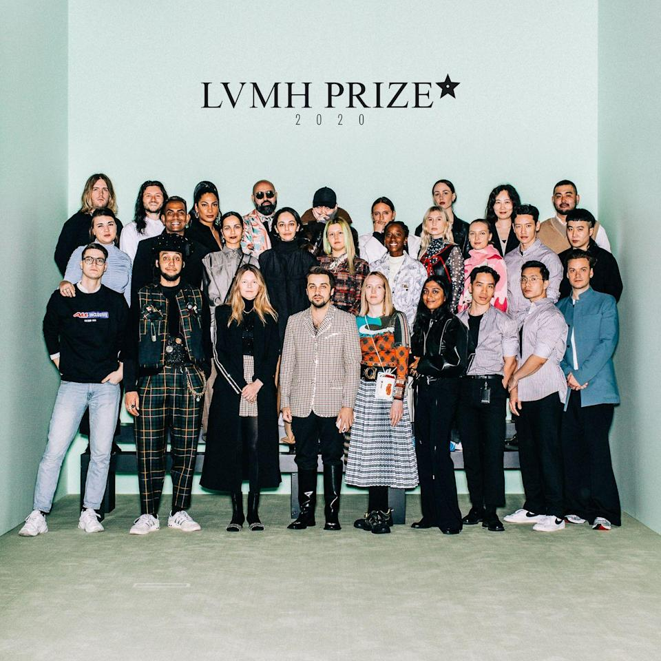 """<p>LVMH, the parent-group to the world's biggest brands, from Givenchy to Dior, has announced this year's <a href=""""http://www.lvmhprize.com/"""" rel=""""nofollow noopener"""" target=""""_blank"""" data-ylk=""""slk:LVMH Prize"""" class=""""link rapid-noclick-resp"""">LVMH Prize</a> finalists.<br></p><p>The luxury conglomerate annually dishes out two major awards: a top prize of a €300,000 (£269,000) that comes with mentoring from the industry's leading figures; and the runner-up <a href=""""https://www.elle.com/uk/fashion/a28867038/lvmh-prize-karl-lagerfeld/"""" rel=""""nofollow noopener"""" target=""""_blank"""" data-ylk=""""slk:Karl Lagerfeld Prize"""" class=""""link rapid-noclick-resp"""">Karl Lagerfeld Prize</a>, named after the former Fendi and Chanel creative director following his death in 2019.</p><p>Previous winners include <a href=""""https://www.elle.com/uk/fashion/a26110126/five-of-fashions-hit-designers-on-where-inspiration-strikes/"""" rel=""""nofollow noopener"""" target=""""_blank"""" data-ylk=""""slk:Grace Wales Bonner"""" class=""""link rapid-noclick-resp"""">Grace Wales Bonner</a> and <a href=""""https://www.elle.com/uk/fashion/articles/a42471/meet-marine-serre-the-lvmh-prize-winner/"""" rel=""""nofollow noopener"""" target=""""_blank"""" data-ylk=""""slk:Marine Serre"""" class=""""link rapid-noclick-resp"""">Marine Serre</a>, and <a href=""""https://www.elle.com/uk/fashion/a28924235/lvmh-prize-2019-winner/"""" rel=""""nofollow noopener"""" target=""""_blank"""" data-ylk=""""slk:last year's winner"""" class=""""link rapid-noclick-resp"""">last year's winner</a>, South African designer Thebe Magugu, made history, winning against 1,700 applicants from over 100 countries.<br></p><p>This year's eight finalists are: Ahluwalia by Priya Ahluwalia, Casablanca by Charaf Tajer, <a href=""""https://www.elle.com/uk/fashion/trends/a29725682/fashion-editors-love-this-skirt/"""" rel=""""nofollow noopener"""" target=""""_blank"""" data-ylk=""""slk:Chopova Lowena"""" class=""""link rapid-noclick-resp"""">Chopova Lowena</a> by Emma Chopova and Laura Lowena, Nicholas Daley, Peter Do, Sindiso Khumalo, <a href=""""https://www.elle.com/uk/fashion"""