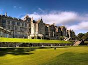 """<p><a href=""""https://go.redirectingat.com?id=127X1599956&url=https%3A%2F%2Fwww.booking.com%2Fhotel%2Fgb%2Fbovey-castle.en-gb.html%3Faid%3D2070929%26label%3Dcastle-hotels&sref=https%3A%2F%2Fwww.countryliving.com%2Fuk%2Ftravel-ideas%2Fstaycation-uk%2Fg35418369%2Fcastle-hotels%2F"""" rel=""""nofollow noopener"""" target=""""_blank"""" data-ylk=""""slk:Bovey Castle"""" class=""""link rapid-noclick-resp"""">Bovey Castle</a> is perhaps more ultra-grand Victorian-style country house hotel than a castle per se. However, perched on the edge of 368 square miles of rolling Dartmoor countryside and surrounded by extensive grounds of dense forest, it's as majestic on the outside as it is cosy on the inside. </p><p>This is the spot to enjoy long walks before retiring to the castle hotel to snuggle up by the roaring log fire and tuck into afternoon tea.</p><p><a href=""""https://www.redescapes.com/offers/devon-moretonhampstead-bovey-castle-hotel"""" rel=""""nofollow noopener"""" target=""""_blank"""" data-ylk=""""slk:Read our review of Bovey Castle"""" class=""""link rapid-noclick-resp"""">Read our review of Bovey Castle</a></p><p><a class=""""link rapid-noclick-resp"""" href=""""https://go.redirectingat.com?id=127X1599956&url=https%3A%2F%2Fwww.booking.com%2Fhotel%2Fgb%2Fbovey-castle.en-gb.html%3Faid%3D2070929%26label%3Dcastle-hotels&sref=https%3A%2F%2Fwww.countryliving.com%2Fuk%2Ftravel-ideas%2Fstaycation-uk%2Fg35418369%2Fcastle-hotels%2F"""" rel=""""nofollow noopener"""" target=""""_blank"""" data-ylk=""""slk:CHECK AVAILABILITY"""">CHECK AVAILABILITY</a></p>"""