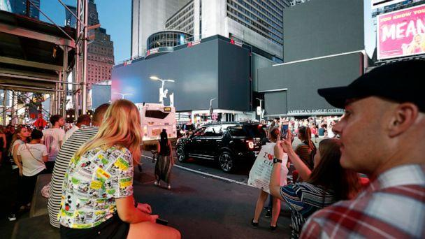 PHOTO: Screens in Times Square are black during a widespread power outage, Saturday, July 13, 2019, in New York. (Michael Owens/AP)