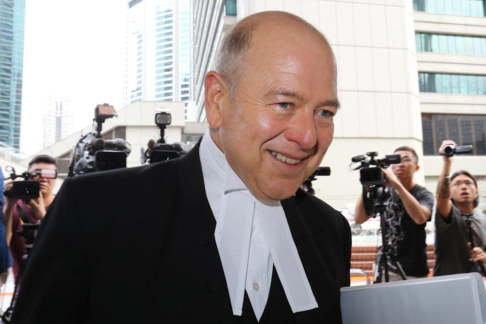 David Perry QC pulled out of a case in Hong Kong. Photo: Dickson Lee