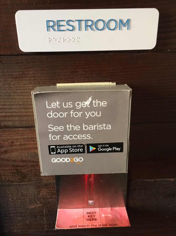 The scanner at the entrance to the bathroom in San Francisco. Source: Tim Maughan/Twitter