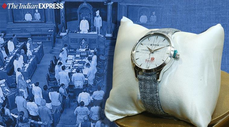 Khadi watches, Khadi Titan watches, Parliament Lok sabha khadi watches, nitin gadkari, indian express, khadi, titan