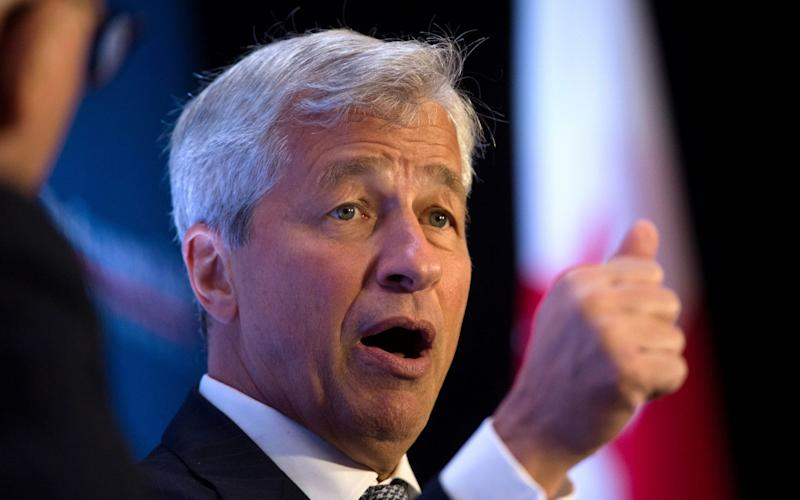 'This wealthy New Yorker actually earned his money. It wasn't a gift from daddy,' Jamie Dimon told an event - AFP or licensors