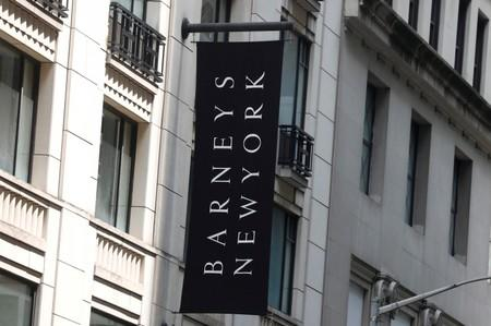 FILE PHOTO: The Barneys New York sign is seen outside the luxury department store in New York