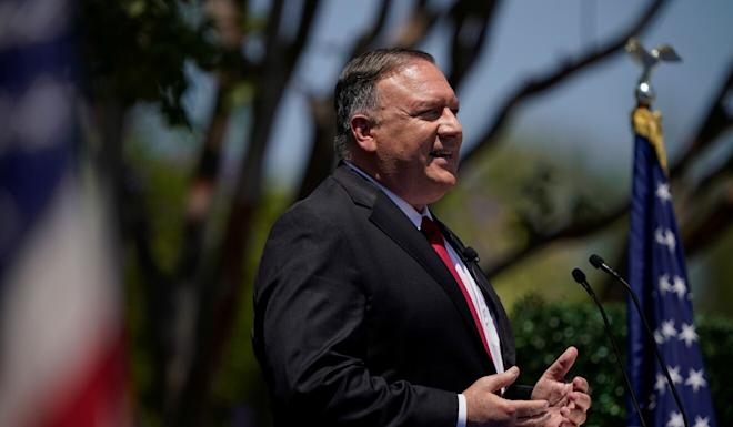 US Secretary of State Mike Pompeo criticised Chinese leadership in his address at the Richard Nixon Presidential Library in Yorba Linda, California, on Thursday. Photo: Reuters
